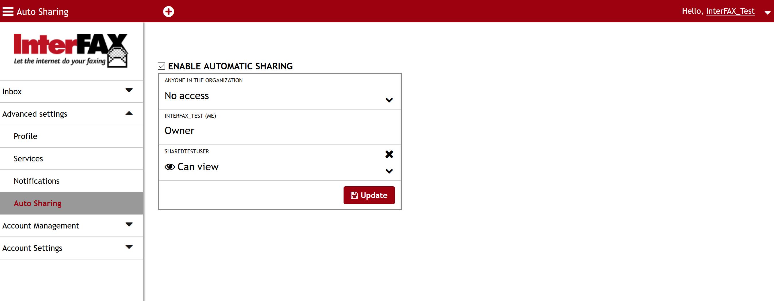 Auto Sharing User Added Window